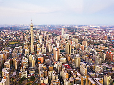 Aerial view, skyscrapers, downtown, Johannesburg, South Africa, Africa