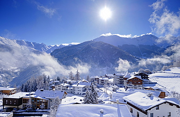 Ladis im Winter, ski area Serfaus Fiss Ladis, Tyrol, Austria, Europe