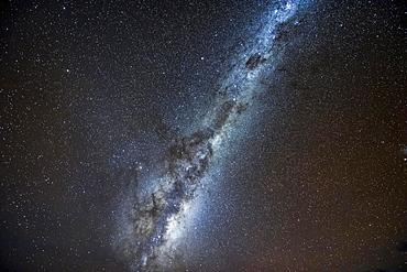 Milky Way in the New Zealand night sky, West Coast, New Zealand, Oceania