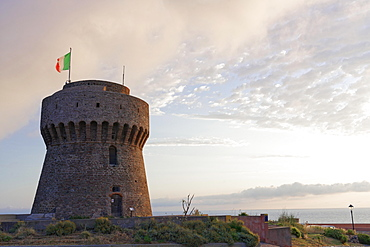 Port tower, Capraia island, Tuscan Archipelago National Park, Livorno, Tuscany, Italy, Europe