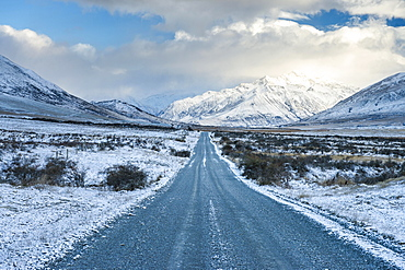 Rangitata River Valley Winter Gravel Road, Peel Forest, Ashburton, Canterbury, New Zealand, Oceania