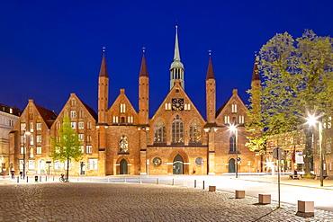 Heiligen Geist Hospital, Koberg, Luebeck, Schleswig-Holstein, Germany, Europe