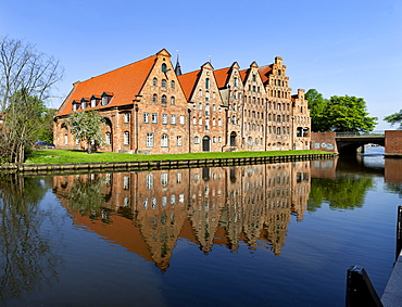 Luebeck salt storage, historic warehouses, Luebeck, Schleswig-Holstein, Germany, Europe