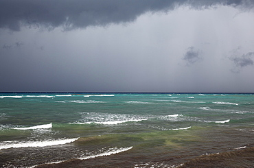 Heavy rainstorm, Guanahacabibes Peninsula, Guanahacabibes National Park, Cuba, Central America