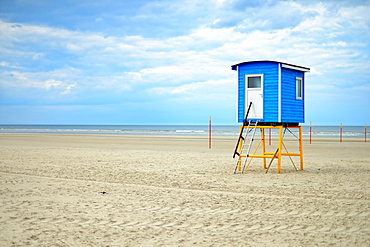 Cabin on the beach, Langeoog, East Frisian Islands, Germany, Europe