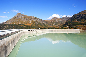 Kops dam, Ferwall group, Paznaun valley, Galtuer, Tyrol, Austria, Europe