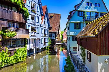 Fischerviertel, Ulm, Swabian Alb, Baden-Wuerttemberg, Germany, Europe