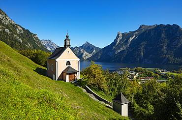 Calvary Church in Ebensee, Lake Traun, Salzkammergut, Upper Austria, Austria, Europe