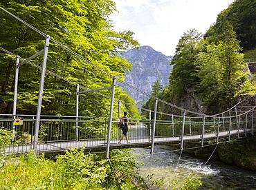 Koppental hiking trail from Obertraun to Bad Aussee along the Koppentraun Salzkammergut, Upper Austria, Austria, Europe