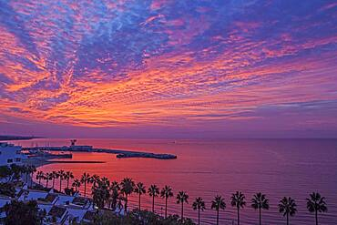 Dawn on the beach of Marbella, Malaga province, Spain, Europe