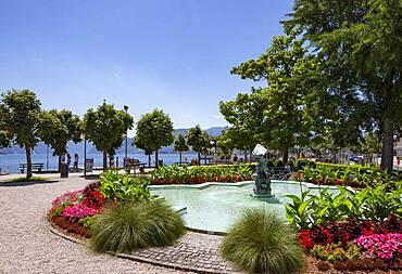 Franz Josef Park on the Esplanade, Gmunden, Lake Traun, Salzkammergut, Upper Austria, Austria, Europe