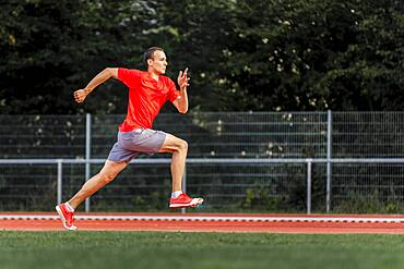 Man, athletics, sprinting, Germany, Europe