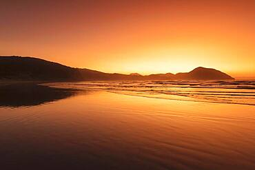 Wharariki Beach at sunset, Oceania, Golden Bay, Tasman, South Island, New Zealand, Oceania