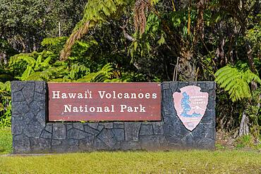 Park entrance, Hawaii, Hawai'i Volcanoes National Park, Big Island