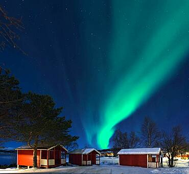 Northern lights camping cabins Tysjford Norway