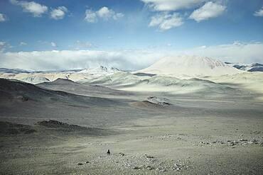 Landscape of Kisil Czar, the Red Mountains, Olgii, Mongolia, Asia