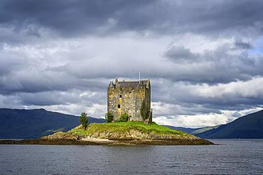 Castle Stalker in Loch Laich, Scotland, Great Britain