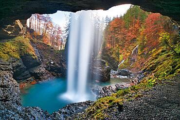 Waterfall Berglistueber, Linthal, Canton Glarus, Switzerland, Europe