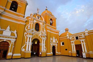 Cathedral in the evening light, Trujillo, La Liberdad region, Peru, South America