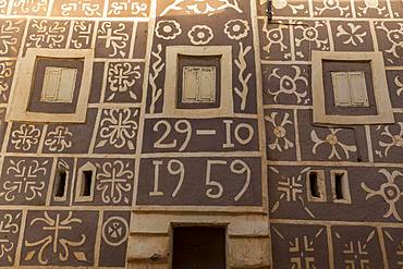 House facade, traditional architecture, Agadez, Niger, Africa