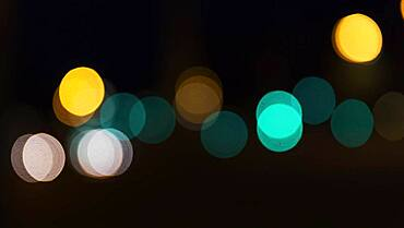 Abstract dark background with sparkling lights, Barcelona, Spain, Europe