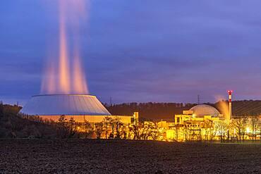 Nuclear power plant Neckarwestheim, Neckarwestheim, Baden-Wuerttemberg, Germany, Europe