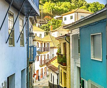 Narrow street in old town of Entre-os-Rios, Penafiel, Douro Valley, Portugal, Europe