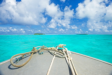 Very turquoises water in the lagoon of Wallis, Wallis and Futuna, Oceania