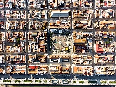 Aerial view of Vila Real de Santo Antonio, Algarve, Portugal, Europe