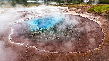 Hot spring, high temperature area Haukadalur, Golden Circle, Suourland, Iceland, Europe
