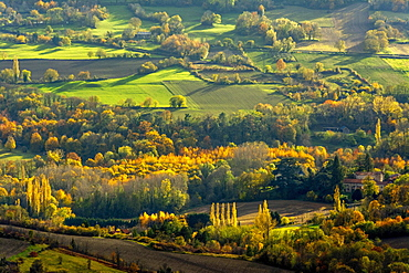 Autumn landscape, Auvergne-Rhone-Alpes, France, Europe