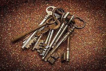 Rusty keys, France, Europe