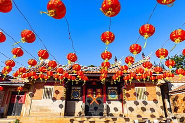Colourful lamps, Shuitou Village, Kinmen island, Taiwan, Asia