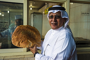 Fresh bread at the fish market of Jeddah, Saudi Arabia, Asia