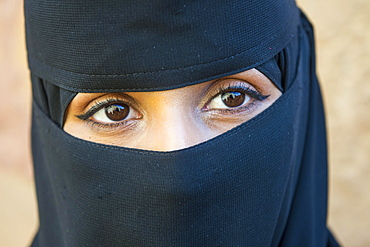 Woman with traditional Hijab, Tabuk, Saudi Arabia, Asia