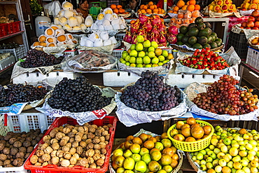 Fruits on the market, Myitkyina, Kachin state, Myanmar, Asia