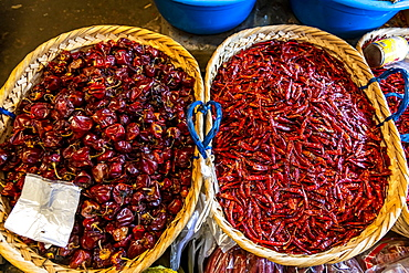 Chili close up, Myitkyina, Kachin state, Myanmar, Asia