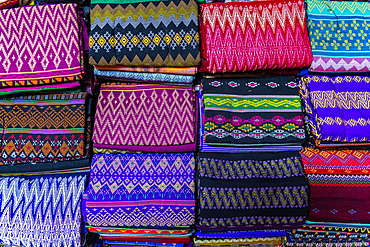 Colourful clothes, Myitkyina, Kachin state, Myanmar, Asia