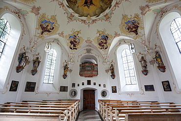 Interior view Loretto Chapel, Oberstdorf, Oberallgaeu, Allgaeu, Bavaria, Germany, Europe