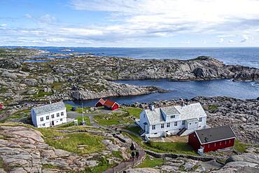 Houses of the Lindesnes lighthouse, Lindesnes, Norway, Europe