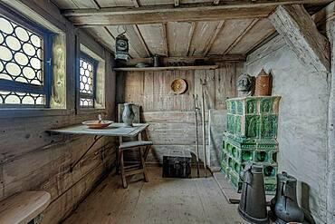 Wartburg, interior view, Donkey Driver's Room, Thuringia, Germany, Europe