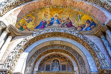 Archway of the Basilica of St. Mark, San Marco, Venice, Veneto, Italy, Europe