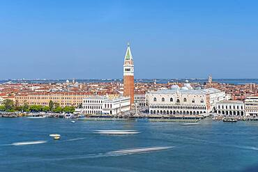St. Mark's Square and Campanile, Venice, Veneto, Italy, Europe