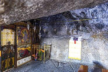 Unesco world heritage site, Cave of The Revelation, Patmos, Greece, Europe
