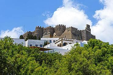 Unesco world heritage site, Monastery of Saint John the Theologian, Chora, Patmos, Greece, Europe