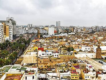 Top view of the city, Casablanca, Morocco, Africa