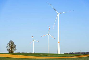 Wind farm, wind turbines, wind turbines, Baden-Wuerttemberg, Germany, Europe