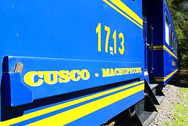 Peru Rail to Cusco, Machu Picchu, Urubamba Province, Peru, South America