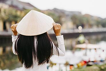 Vietnamese woman in Hoi An, Vietnam, Asia