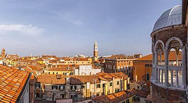 Dome of Palazzo Contarini del Bovolo, palace with spiral staircase, Venice, Veneto, Italy, Europe